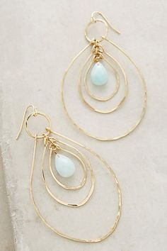 Add a statement to your look with earrings from Anthropologie. Discover our collection of unique hoop, drop, chandelier, cluster and post earrings for women. Wire Jewelry, Jewelry Box, Jewelry Accessories, Fashion Accessories, Handmade Jewelry, Jewelry Design, Fashion Jewelry, Jewelry Making, Gold Jewellery