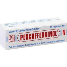 PERCOFFEDRINOL N Coffein Tabletten: PERCOFFEDRINOL N Koffein Tabletten zur kurzfristigen Beseitigung von Ermüdungserscheinungen.…
