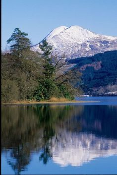 Ben Lomond from Loch Ard, Trossachs, Scotland