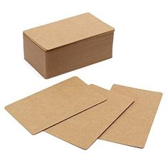 100 Pcs 8.7cm x 5.2cm DIY Brown Double-sided Blank Kraft Paper Word Message Card Gift Name Card Cardboard >>> Want additional info? Click on the image.