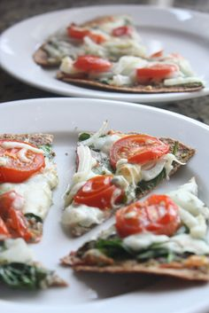 Make a healthy pizza with a sprouted grain Ezekiel Tortilla!