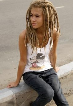 have always wanted to try dreadlocks or tiny braids, but know Im way too old -still, its kinda cool!!!