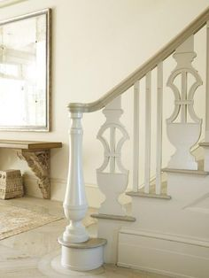 Sensationalize Your Stair Railings with flat-sawn balusters | Decorating and Design Tips from Louise Brooks at  Traditional Home
