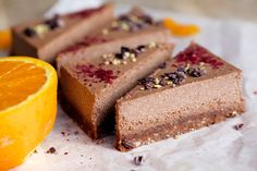 Chocolate Orange Raw Cheesecake from Bags and Bunnies #cleandessert #healthydessert #rawcake