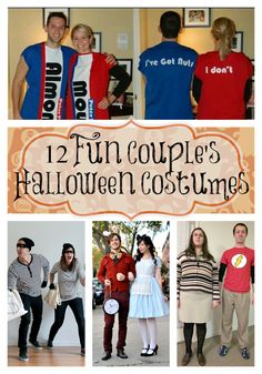 These 12 Fun Couples Halloween Costume Ideas are so adorable! Any one of these is sure to be a prize winning show-stopper! DIY Halloween costume ideas here!