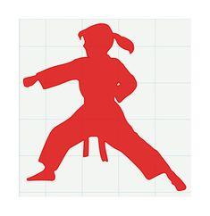 "Karate Girl - Vinyl Decal Sticker - 5"" x 5"""