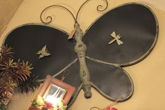 Large tin butterfly - Primitive Blessings Shop