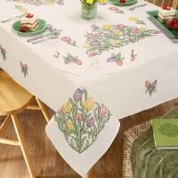 Nob Hill™ Tulip Garden Tablecloth Stamped Cross-Stitch