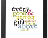 James 1:17 for the nursery