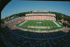 Wide-angle view of Kenan Stadium, circa 1997; University of North Carolina at Chapel Hill