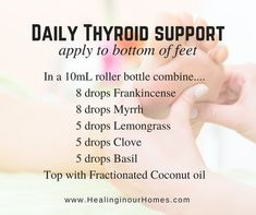 Thyroid support Tips For essential oil blends Essential Oils For Thyroid, Essential Oils For Babies, Essential Oil Uses, Doterra Essential Oils, Essential Oils Hypothyroidism, Healing Oils, Aromatherapy Oils, Elixir Floral, Health And Wellness
