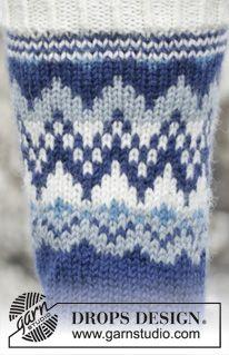 "Ólafur Socks - Knitted DROPS socks with Norwegian pattern in ""Karisma"" or ""Merino Extra Fine"". - Free pattern by DROPS Design"