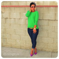 Fashion, Lifestyle, and DIY: Color Me Green! How to Wear Bold Colors Work Fashion, Fashion Details, Fashion Advice, High Fashion, Fashion Ideas, Winter Fashion, Women's Fashion, Preppy Outfits, Fashion Outfits