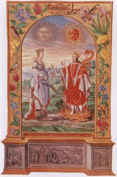 A page from the Splendor Solis of Salomon Trismosin. The Splendor Solis is one of the most beautiful of illuminated alchemical manuscripts. The earliest version which is in the Prussian State Museum in Berlin is dated 1532-35,