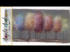Pop of Color Black and White Trees Part 2 | Beginner Acrylic Painting | Purple Turquoise or Yellow - YouTube