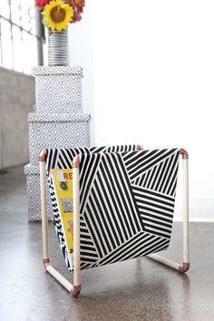 MY DIY | Cotton Fabric, Copper & Wood Magazine Holder | I SPY DIY