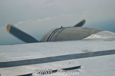 One of the four propellers on the Yankee Lady, B-17G SuperFortress, while in flight #AvGeek #aviation #photos