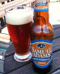 Sam Adams Harvest Pumpkin Ale.