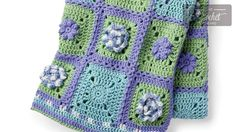 Stitch Along: Crochet Spring Garden Afghan + Tutorials (The Crochet Crowd) Afghan Crochet Patterns, Crochet Afghans, Crochet Blankets, Caron One Pound Yarn, Crochet Crowd, Yarn Tail, Spring Garden, Yarn Colors, Crochet Flowers