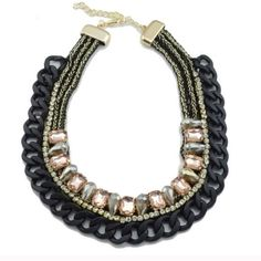 T&J Designs Matte Black Crystal Necklace T&J Designs Matte Black Chain Pink Crystal Necklace - Nickel & Lead Free- Simply Gorgeous!! (Suggested MSRP $40!).                           🌟PRICE SLASHED!!!🌟 T&J Designs Jewelry Necklaces