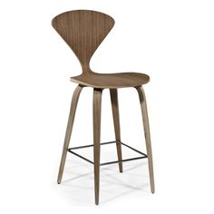 Norman Cherner Inspired Counter Stool by Aeon Furniture - American Walnut Modern Counter Stools, 26 Bar Stools, Modern Bar Stools, Swivel Bar Stools, Bar Counter, Bar Chairs, Office Chairs, Counter Chair, Room Chairs