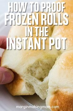 Yes, you can enjoy soft and fluffy dinner rolls in a fraction of the time when you proof your frozen rolls in the Instant Pot! I like using Rhodes rolls as a shortcut, but I needed a faster way to get them to rise. This method using the Yogurt setting works great!