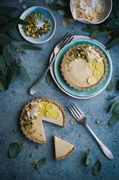 Raw Meyer Lemon Cream Tarts - The Kitchen Mac Kabe