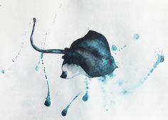 stingray watercolor - Google Search