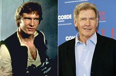 His hair may have grayed, but Harrison Ford's face has hardly aged since his 'Star Wars' years.  The now silver fox has publicly spoken out against plastic surgery, choosing to age naturally. Understandably so!  Who would mess with a face like that?