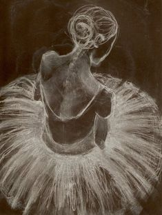 Beautiful dancer drawing.
