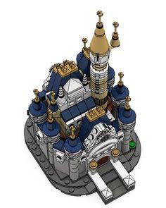 mini lego disney Castle by play Lego Disney Castle, Lego Castle, Lego Architecture, Lego Models, Everyday Objects, City Art, Lego Creations, Lego City, Legos