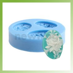 Silicone Peony Chocolate Muffin Mold Maker Jello Handmade Soap Candle DIY Mould