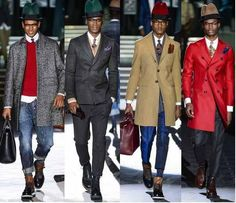 DSquared2 2013 Fall preview  Used all black male model cast!!!  1940's jazz club inspired:-) lovely!