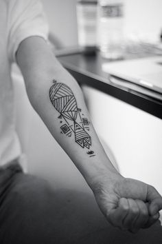 Arm Gorgeous Geometric Tattoo Idea