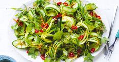 Cucumber salad with garlic dressing recipe? get instruction detail. Pair this refreshing summer salad with sweet and sticky chicken, beef or pork for an explosion of tangy flavour that will have everyone asking for seconds! Creamy Pasta Salads, Creamy Potato Salad, Easy Pasta Salad, Easy Salads, Summer Salads, Crunchy Noodle Salad, Chicken Spices, Sticky Chicken, Christmas Salad Recipes