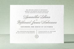 Notable Letterpress Wedding Invitations by Wondercloud Design at minted.com