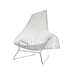 Knoll Bertoia Asymmetric Chaise, Unupholstered (305,000 PHP) ❤ liked on Polyvore featuring home, furniture, chairs, accent chairs, knoll chair, outdoors chairs, white furniture, outdoor furniture and chrome furniture