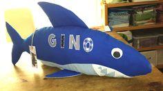 Namens-/Kuschelkissen Hai von zwergenland auf DaWanda.com