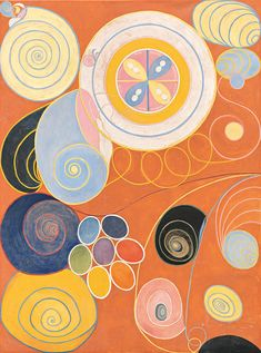 Hilma af Klint was a pioneer of art that turned away from visible reality. By she had developed an abstract imagery. This was several years before Wassily Kandinsky Piet Mondrian and Kazimir Malevich who are still regarded as the pioneers of abstract art. Piet Mondrian, Wassily Kandinsky, Example Of Abstract, Hilma Af Klint, Exhibition Poster, Contemporary Abstract Art, Abstract Painters, Art Abstrait, Hanging Art