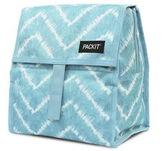 PackIt Freezable Lunch Bag with Zip Closure, Aqua Tie Dye - To buy again Reusable Lunch Bags, Insulated Lunch Bags, Adult Lunch Box, Back To School Organization, New Mods, Lunch Containers, Bag Clips, Cool Technology, Tie Dye