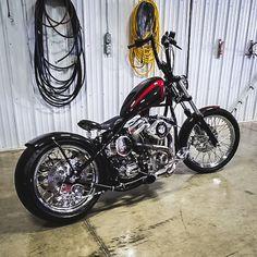 Custom Bobber, Custom Motorcycles, Cars And Motorcycles, Custom Bikes, Bobber Motorcycle, Motorcycle Outfit, Harley Davidson Sportster 1200, Custom Cycles, Sometimes I Wonder