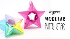 Modular Origami Puffy Star Tutorial (Salman Ebrahimi) Paper Kawaii #origami #paperkawaii