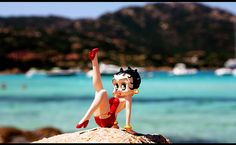 Betty Boop on the beach by Valentina_A, via Flickr