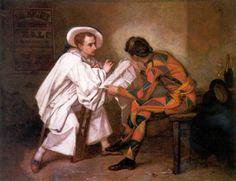 Pierrô, o político, 1857 Thomas Couture (França, 1815-1879 ) óleo sobre tela