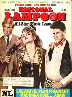 Humor & Satire Monthly Magazine Back Issues National Lampoon Magazine, American Humor, Madonna 80s, The Wedding Singer, National Lampoons, Satire, All Star, Music, Magazine Covers