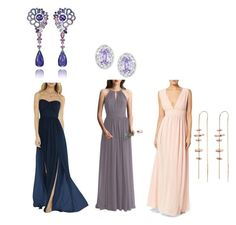 """Bridesmaid Dresses"" by michelle858 ❤ liked on Polyvore featuring Social Bridesmaids, #Levkoff, LULUS, Chopard, Swarovski and TILDA BIEHN"