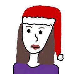 Christmas me! Drawn on my phone :)