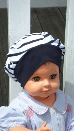 beret Hat  pour   birth  en jersey baby turban Hat   white and Navy      lineva  collection spring creation was 2018  cadeau   BONNETS BÉBÉ    Pinterest ... 90f1e04f2cd