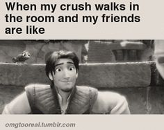 That doesn't happen because none of my friends know who my crush is