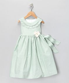 Green Gingham Ruffle Dress